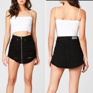 New!LF/ Carmar Beatrice denim black skirt NWT